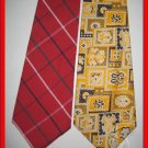 MENS RARE VINTAGE WIDE FATTY RETRO NECK TIES LOT 1960s