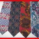 MEN CHRISTIAN DIOR CD etc PAISLEY SUN FLOWERS SILK TIES