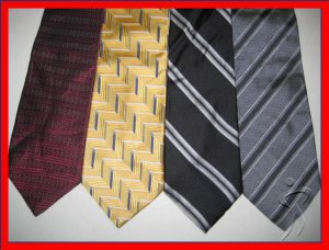 MENS DESIGNER COLLECTION STRIPES PLAID SILK NECK TIES