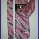 NEW STEVE HARVEY SILK TIE HANKY PINK STRIPES NECKWEAR