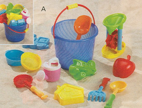 Beach Bucket Sand Toy