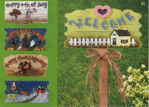 Cahngeable Holiday Garden Sign