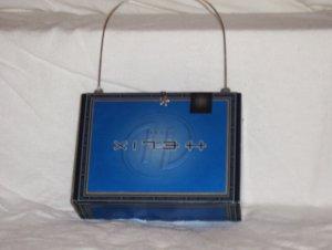 Blue Helix Cigar Box Purse