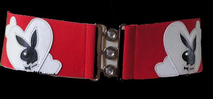 PLAYBOY Bunny HUGH HEFNER GIRLS NEXT DOOR Red Corset BELT Small Medium & Large