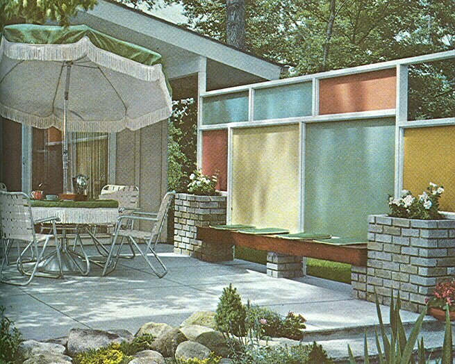 Mid Century Modern Landscape Design on Modern Concrete Homes With Courtyard