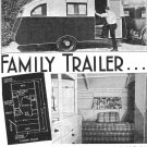 "Teardrop ""Canned Ham"" Trailer Plans Vintage Popular Mechanics Shop Notes 1937"