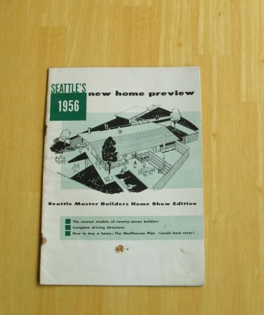 Seattle's New Home Preview 1956 Mid Century Modern