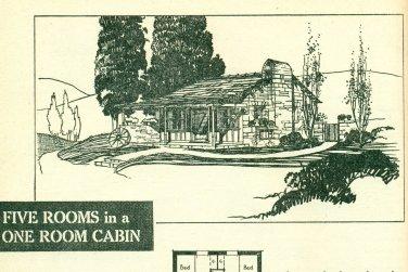 Vintage Cabin Beach House Plans Book 1938 Charming