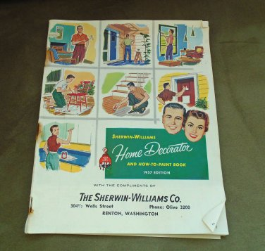 """""""Sherwin Williams"""" 1957 Paint Catalog Booklet Vintage Mid Century"""