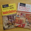 2 Interior Design Booklets Mid Century Modern Atomic Bookshelves Basements 1960s