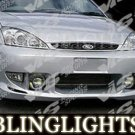 2000-2004 Ford Focus VIS Racing Body Kit Fog Lamps Bumper Driving Lights