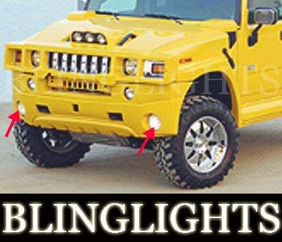 2002 2003 2004 2005 2006 2007 2008 2009 Hummer H2 Erebuni Body Kit Bumper Fog Lamps Driving Lights