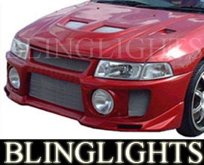 1997-2002 Mitsubishi Mirage Silk Evo V Body Kit Bumper Fog Lamps Driving Lights Foglamps Foglights