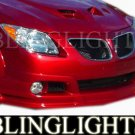 2003-2008 Pontiac Vibe RK Sport Body Kity Foglamps Bumper Foglights Driving Fog Lamps Lights