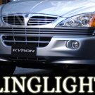 2005-2009 SSANGYONG KYRON FOG LIGHTS LAMPS xdi 2006 2007 2008