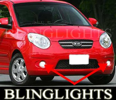 2007 2008 2009 2010 2011 Kia Picanto Xenon Foglamps Foglights Fog Lamps Driving Lights Kit