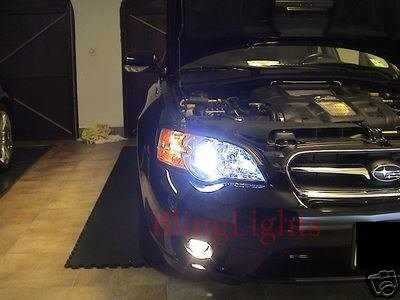 2003-2009 Subaru Legacy Halo Fog Lamp Driving Light Kit BL BP Angel Eyes