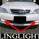 2002 2003 Acura TL Xenon Fog Lamp Driving Light Kit Grille Bumper Foglamps Foglights Drivinglights