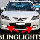 2008 2009 Mazda3 SP23 BK 2 Fog Lamp Driving Lights Kit Xenon Driving Lights