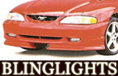 1994 1995 1996 1997 1998 Ford Mustang Roush Body Kit Driving Lights Fog Lamps Xenon