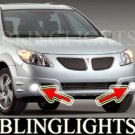 2005 2006 Pontiac Vibe GT Xenon Foglamps Foglights Driving Fog Lamps Lamp Light Lights Kit