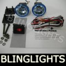 CHROME BLING BLINGLIGHTS BLUE XENON LENS ROUND AUXILIARY FOG LIGHTING LIGHTS LAMPS LIGHT LAMP KIT