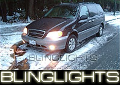 1999-2005 KIA CARNIVAL ANGEL EYES FOG LIGHTS HALOS LAMPS LIGHT LAMP KIT 2000 2001 2002 2003 2004