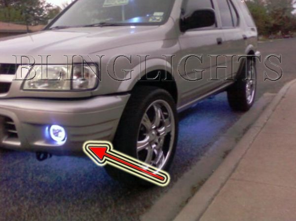 2000 2001 2002 2003 2004 Isuzu Rodeo Halo Fog Lamp Driving Lights Kit