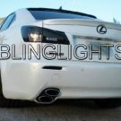 2006-2013 Lexus IS Tinted Tail Lamp Light Overlay Kit Smoked Film IS250 IS300 IS350 F