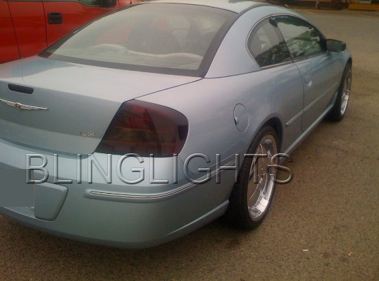 2001 2002 2003 2004 2005 2006 Chrysler Sebring Tinted Smoked Taillamps Taillights Film Overlays