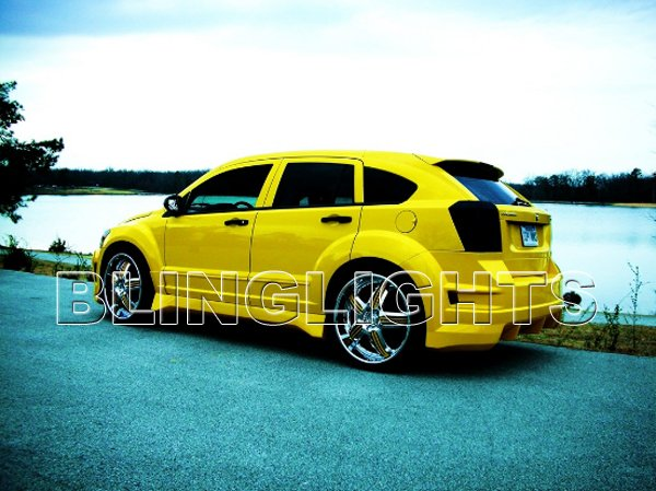 Dodge Caliber Tinted Film Taillamps Taillights Tail Lamps Lights Smoked Protection Overlays Tint
