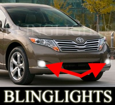 2009 2010 2011 2012 Toyota Venza Xenon Fog Lamps Driving Lights Foglamps Foglights Kit