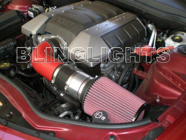 2010 2011 2012 Chevrolet Chevy Camaro SS 6.2L V8 Carbon Fiber Ram Air Engine Intake Kit 1SS 2SS