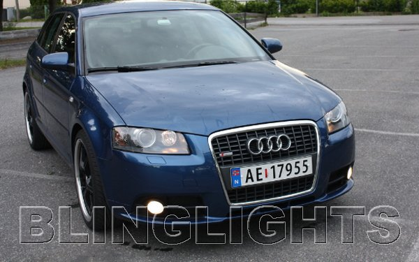 2008 2009 2010 Audi A3 Xenon Fog Lights Driving Lamps Foglamps Foglights Kit