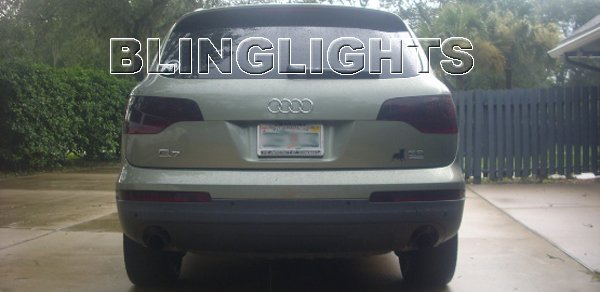 2007 2008 2009 2010 2011 Audi Q7 Tint Film Taillamps Taillights Tail Lamps Lights Smoked Overlays