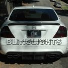 2007 2008 2009 Mercedes-Benz CLK550 Smoked Taillamps Taillights Tail Lamps Lights Tint Film Overlays