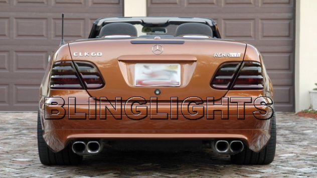 1999 2000 2001 2002 Mercedes-Benz CLK430 Smoked Taillamps Taillights Tail Lamps Tint Film Overlays