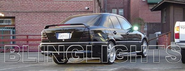1995 1996 1997 Mercedes-Benz C36 AMG Smoked Taillamps Taillights Tail Lamps Tint Film Overlays