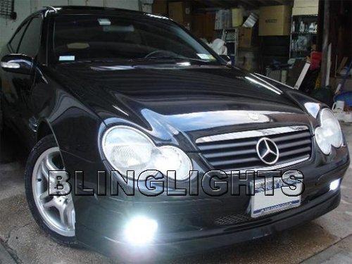 2001 2002 2003 2004 Mercedes-Benz C200 CDI Xenon Fog Lights Driving Lamps Foglamps Kit C 200 w203