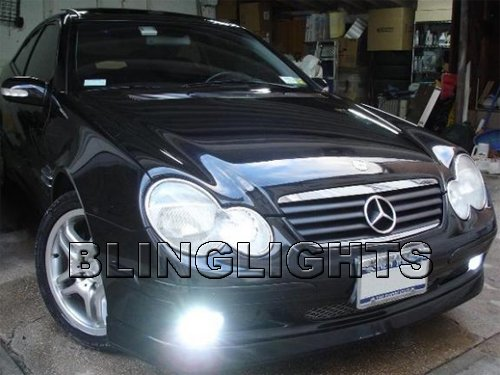 2001 2002 2003 2004 Mercedes-Benz C32 AMG Xenon Fog Lights Driving Lamps Foglamps Kit Mercedes w203