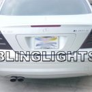 2005 2006 2007 Mercedes-Benz C200 CDI Smoked Taillamps Taillights Tail Lamps Tint Film Overlays w203