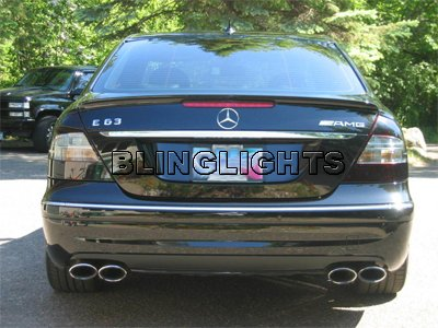 2007 2008 2009 Mercedes Benz E350 Smoked Taillights Taillamps Tail Lamps Lights Tint Film Overlays