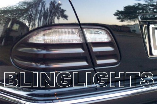 00-02 Mercedes E320 w210 Tinted Smoked Tail Lamps Lights Overlays Protection Film