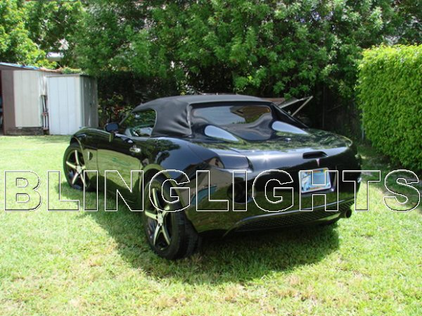 Pontiac Solstice Tinted Smoked Tail Lamp Light Overlays Film Protection