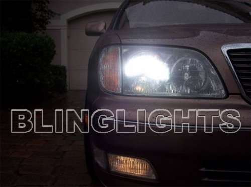 1998 1999 2000 Lexus LS400 4750K White Upgrade Bulbs Headlamps Headlights Head Lamps Lights