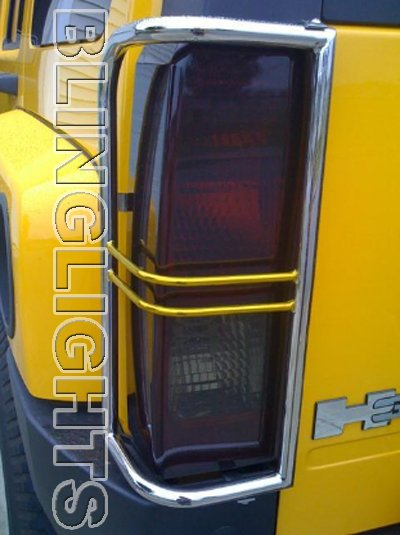 Hummer H2 Murdered Out Taillamps Overlays Tinted Taillights Covers