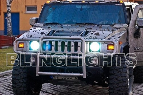 2006 2007 2008 2009 Hummer H3 White Light Bulbs for Headlamps Headlights Head Lamps Lights h3x h3t