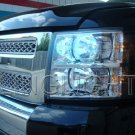 Chevrolet Silverado Bright White Head Lamp Light Bulbs Set Pair