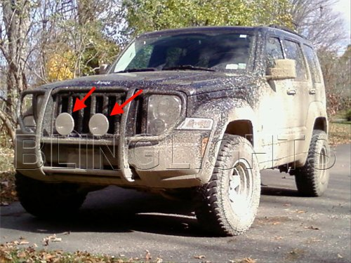 jeep liberty kk kj off road bull bar bumper driving lights. Black Bedroom Furniture Sets. Home Design Ideas