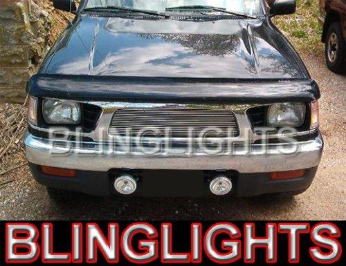 1998 1999 2000 Toyota Tacoma White Angel Eye Bumper Fog Lamps Lights
